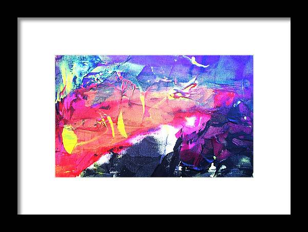 Abstract Framed Print featuring the painting So Many Shapes Coming And Going by Bruce Combs - REACH BEYOND
