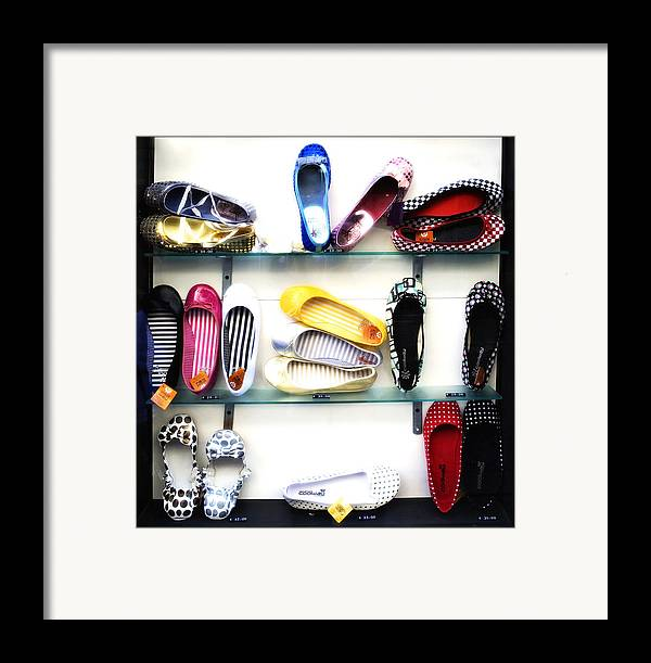 Shoes Framed Print featuring the photograph So Many Shoes... by Marilyn Hunt