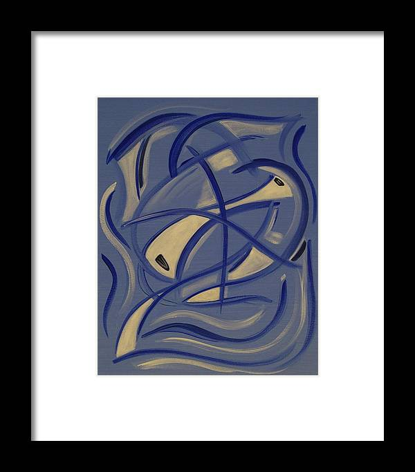 Abstract Framed Print featuring the painting So They Danced by Sandy Bostelman