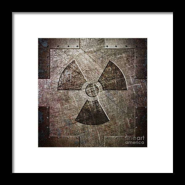 Radiation Framed Print featuring the digital art So This Is The End by Fred Ber