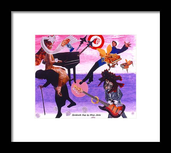 Grand Piano Framed Print featuring the drawing Soap Scene #21 Beggar Belief by Minaz Jantz