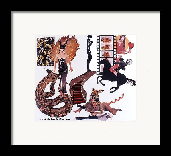 Boa Framed Print featuring the drawing Soap Scene #22 Lust In The Wind by Minaz Jantz