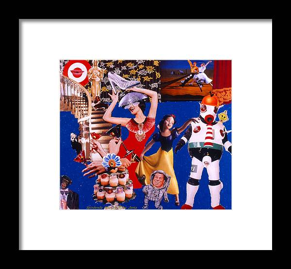 Surreal Framed Print featuring the drawing Soap Scene #23 Oscar's Kiss of Success by Minaz Jantz