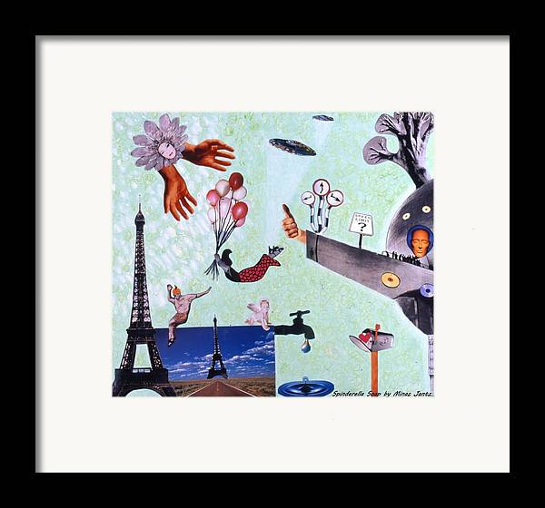 Eiffel Tower Framed Print featuring the drawing Soap Scene #27 Zelestial Headquarters by Minaz Jantz