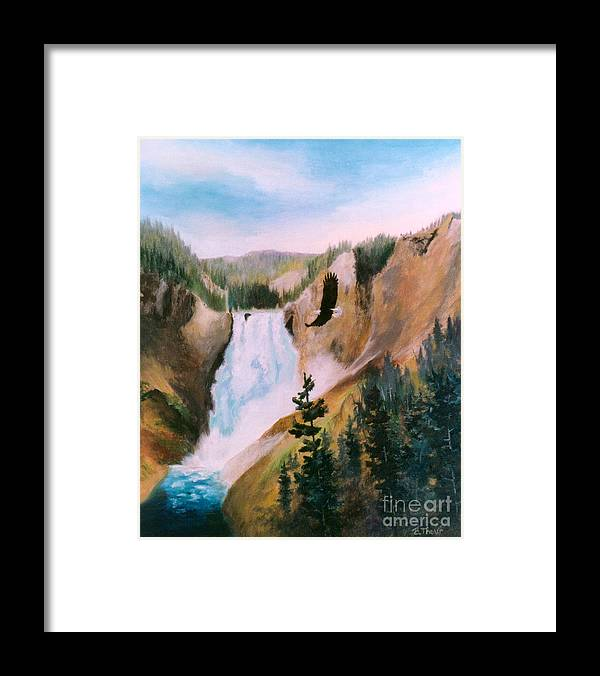 Waterfall Framed Print featuring the painting Soaring High II by Brenda Thour