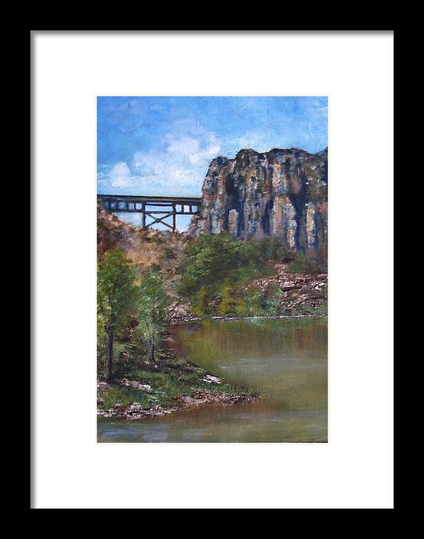 Landscape Framed Print featuring the painting S.o.b Caynon by Darla Joy Johnson