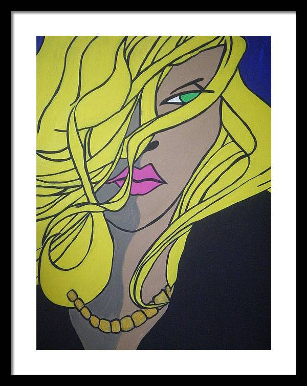 Framed Print featuring the painting Sobe Blonde by Lauran Childs