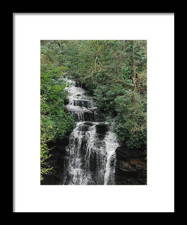 North Carolina Framed Print featuring the photograph Soco Falls by Classic Color Creations