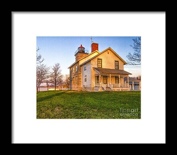 Lighthouse Framed Print featuring the photograph Sodus Point Lighthouse And Museum by Rod Best