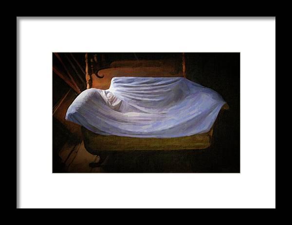Scott Farm Vermont Framed Print featuring the photograph Sofa In Barn by Tom Singleton