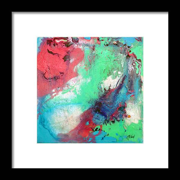 Abstract Framed Print featuring the painting Soft Abstract by Carole Sluski