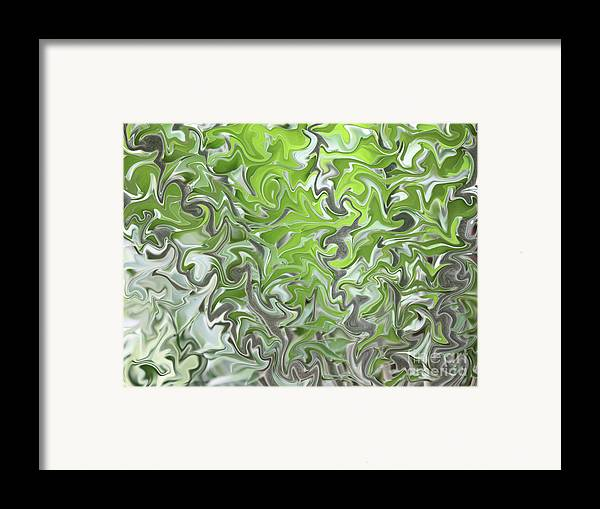 Abstract Framed Print featuring the photograph Soft Green And Gray Abstract by Carol Groenen