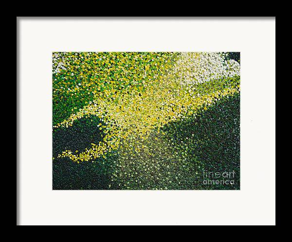 Abstract Framed Print featuring the painting Soft Green Light by Dean Triolo