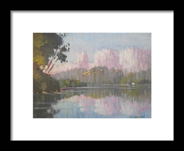 Berkshire Hills Paintings Framed Print featuring the painting Soft Reflections by Len Stomski