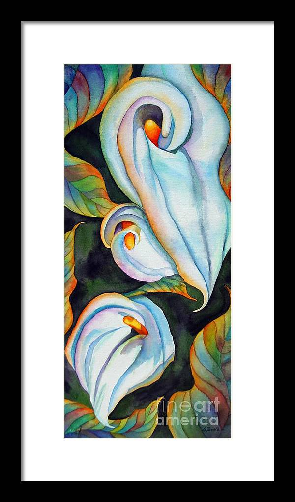 Floral Framed Print featuring the painting Soft Swirl by Gail Zavala