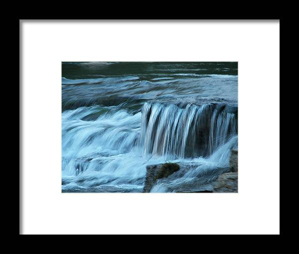 Soft Framed Print featuring the painting Soft Water by Kim