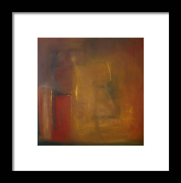 Framed Print featuring the painting Softly Reflecting by Jack Diamond