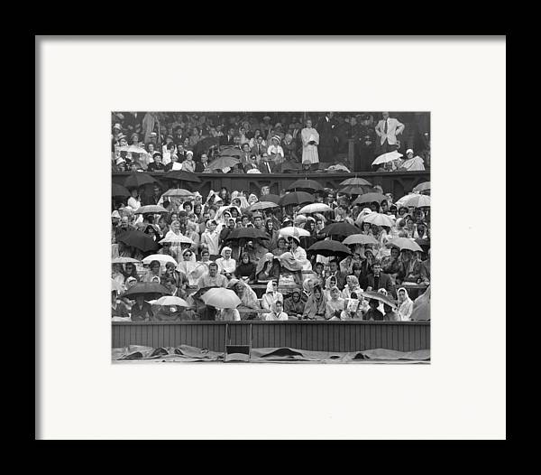 Adult Framed Print featuring the photograph Soggy Supporters by Ron Stone