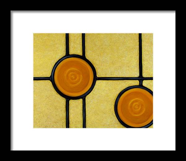 Circles Framed Print featuring the painting Solace by Don Mullins