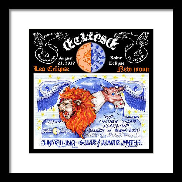Eclipse Framed Print featuring the drawing Solar Eclipse 2017 by Dawn Sperry