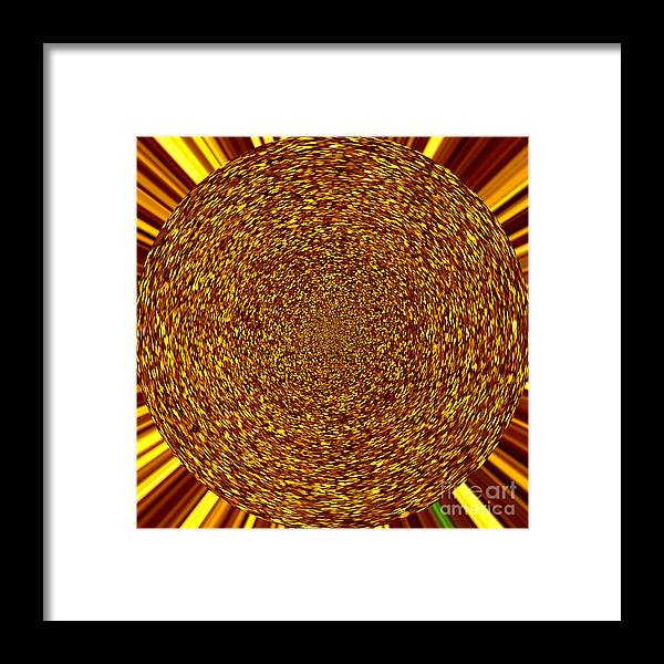 Abstract Framed Print featuring the digital art Solar Flare by Susan Stevenson