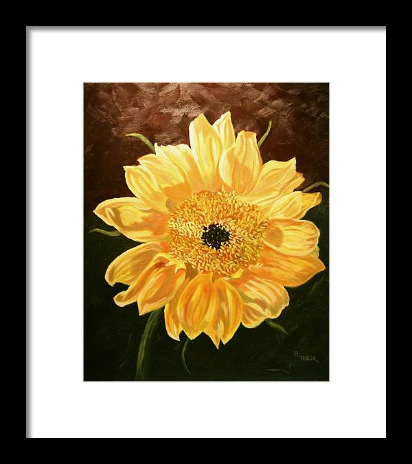 Sunflower Framed Print featuring the painting Solar Power by Robert Tower
