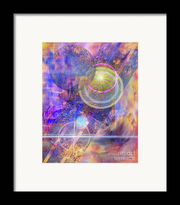 Solar Progression Framed Print featuring the digital art Solar Progression by John Beck