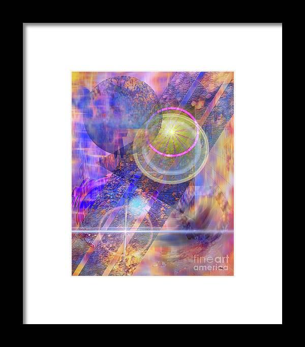 Solar Progression Framed Print featuring the digital art Solar Progression by John Beck