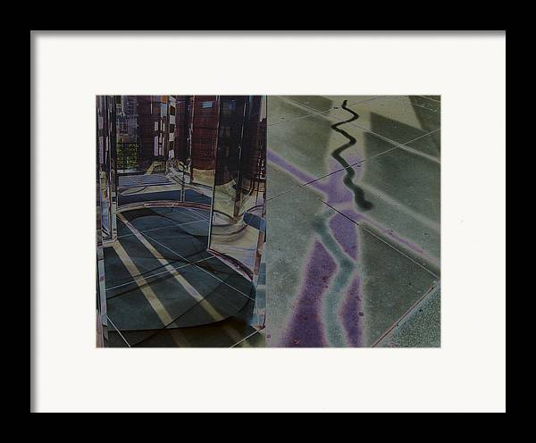 Surreal Landscape Framed Print featuring the photograph Solarized City by Brande Barrett