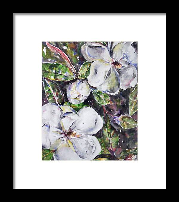 Magnolia Framed Print featuring the painting SOLD Steal Magnolias by Amanda Sanford