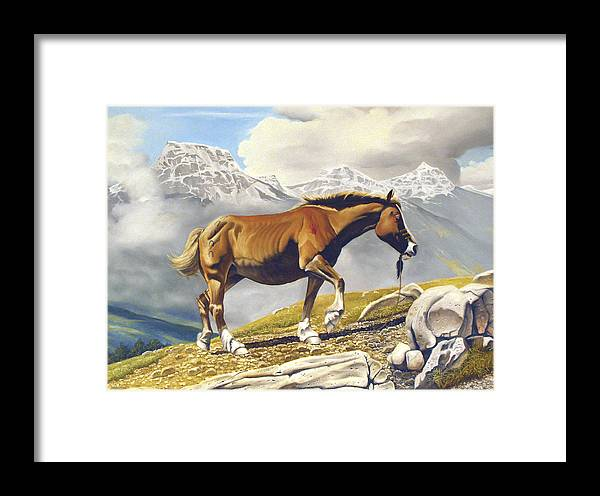 Horse Framed Print featuring the painting Sole Survivor by Marc Stewart