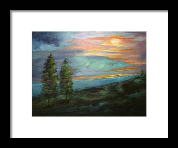Landscape Framed Print featuring the painting Soledad by Ginger Concepcion