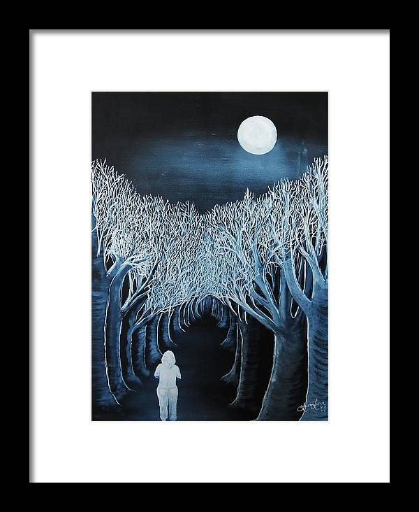 Landscape Framed Print featuring the painting Solidad by Lauren Luna