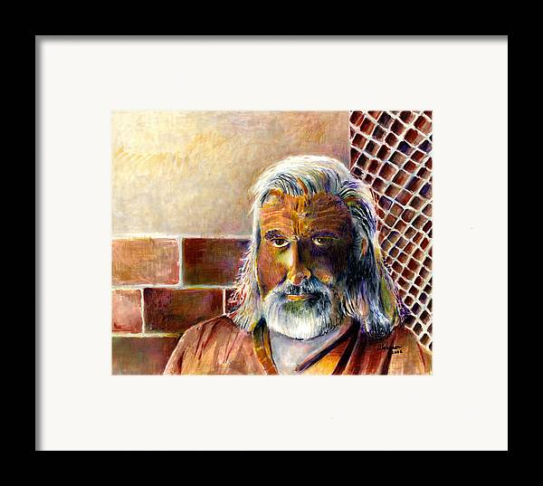 Man Framed Print featuring the painting Solitary by Arline Wagner