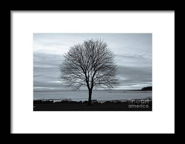 Sunrise Framed Print featuring the photograph Solitude 1, New Castle Sunrise by Jim Hayes