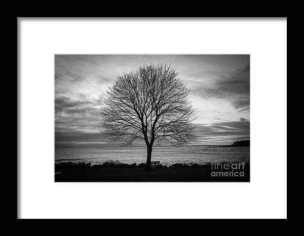 Sunrise Framed Print featuring the photograph Solitude 4, New Castle Sunrise by Jim Hayes