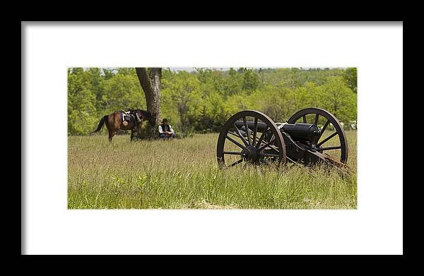 Cannon Framed Print featuring the photograph Solitude Before War by Chad Davis