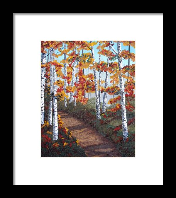 Fall Framed Print featuring the painting Solitude by Brandy House