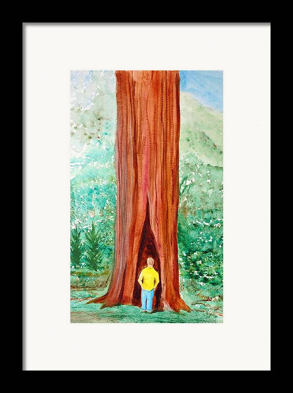 Framed Print featuring the painting Solitude by David Keene
