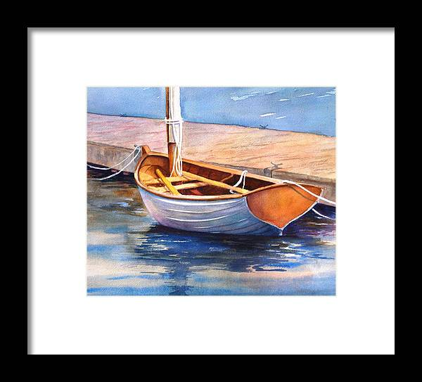 Sailboat Framed Print featuring the painting Solitude by Dorothy Nalls