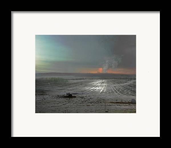 Horse Framed Print featuring the digital art Solitude by Henriette Tuer lund