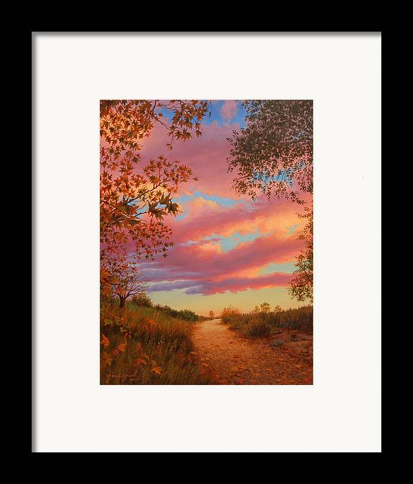Sunset Framed Print featuring the painting Solitude by Johanna Girard