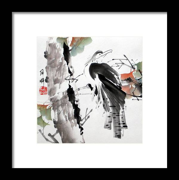 Chinese Painting Framed Print featuring the painting Solitude by Ming Yeung