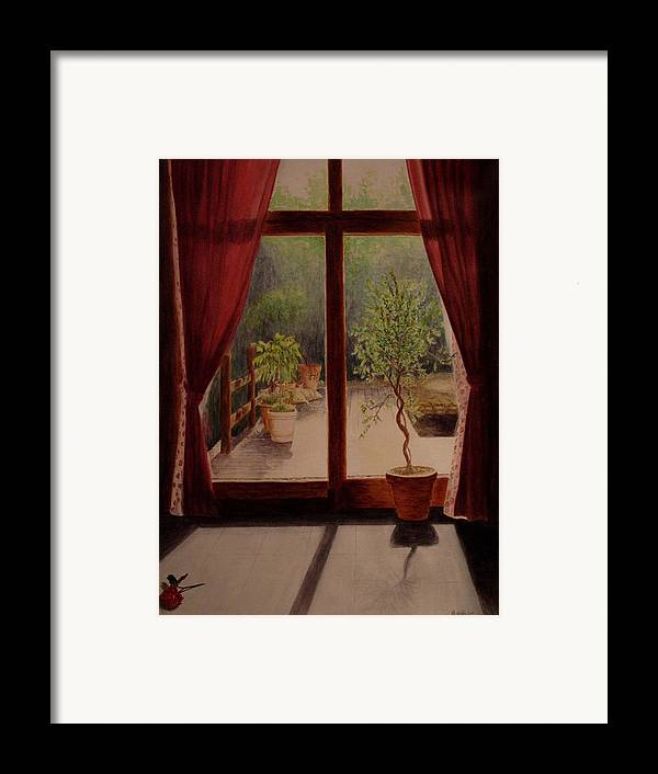 House Framed Print featuring the painting Solitude by Nik Helbig