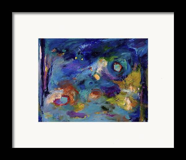 Abstract Art Framed Print featuring the painting Solitude Of Dreams by Johnathan Harris