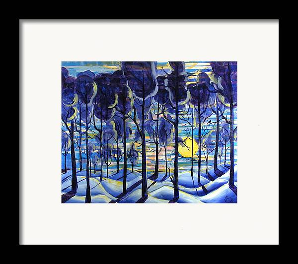 Landscape Framed Print featuring the painting Solitude by Rollin Kocsis