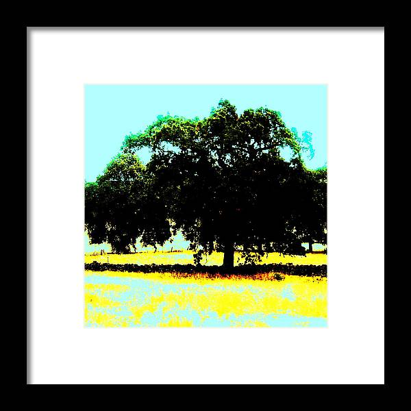 Trees Framed Print featuring the painting Solitude by Tim Tanis
