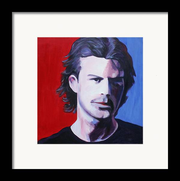 Portrait Framed Print featuring the painting Solo Man by Fiona Jack