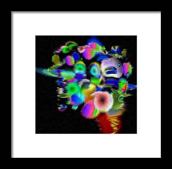 Abstract Art Framed Print featuring the digital art Solo Prism by Brenda L Spencer