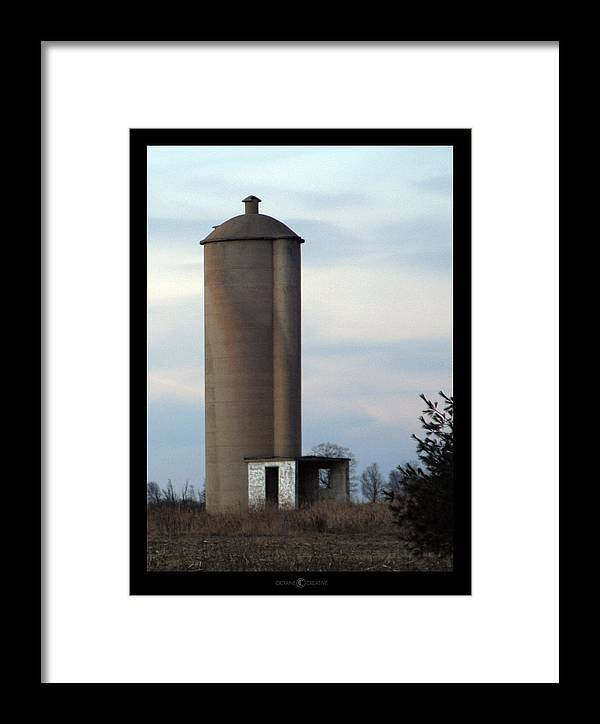 Silo Framed Print featuring the photograph Solo Silo by Tim Nyberg